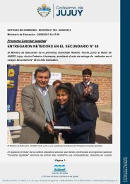 entregaron netbooks en el secundario n° 48 - Dirección de Prensa