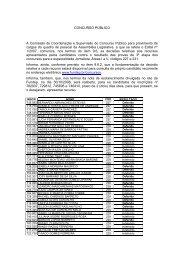 CONCURSO PÚBLICO A Comissão de Coordenação e ... - Fundep
