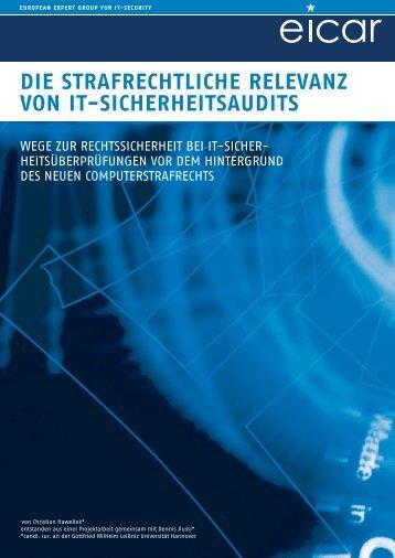 Die strafrechtliche Relevanz von IT-Sicherheitsaudits (pdf, 735 - Eicar