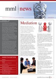 Mortlock McCormack Law Newsletter Issue 12