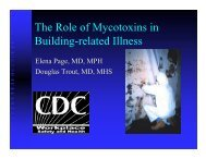 The Role of Mycotoxins in Building-related Illness