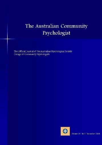 issue 2 09 - APS Member Groups - Australian Psychological Society