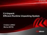 CJ-Unpack: Efficient Runtime Unpacking System - Eicar