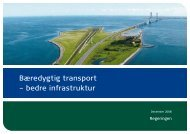 Bæredygtig transport – bedre infrastruktur - Transportministeriet