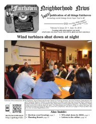 Fairhaven Neighborhood News