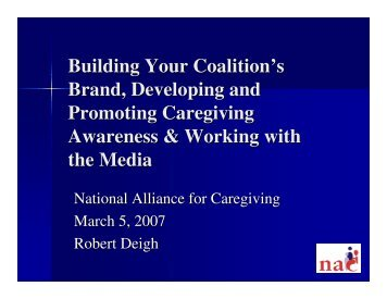 Building Your Coalition's Brand, Developing and Promoting ...