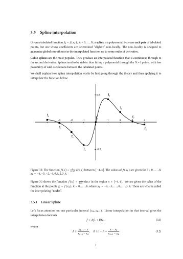 7. Spline Interpolation