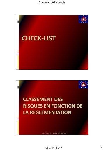 06. Check-list - Prévention incendie