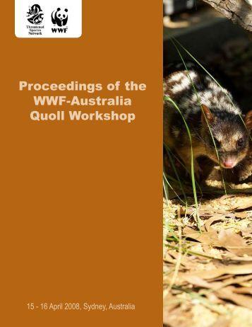 Proceedings of the WWF-Australia Quoll Workshop