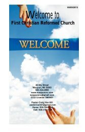 June 9 - First Christian Reformed Church