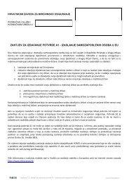 zahtjev za izdavanje potvrde a1 - izaslanje samozaposlenih osoba u ...