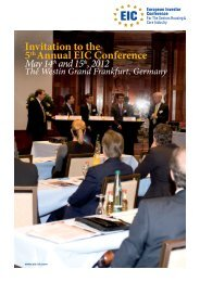 Invitation to the 5thAnnual EIC Conference - Avivre Consult GmbH