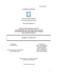 COMUNE DI FAENZA Provincia di Ravenna PIANO SOSTA ...