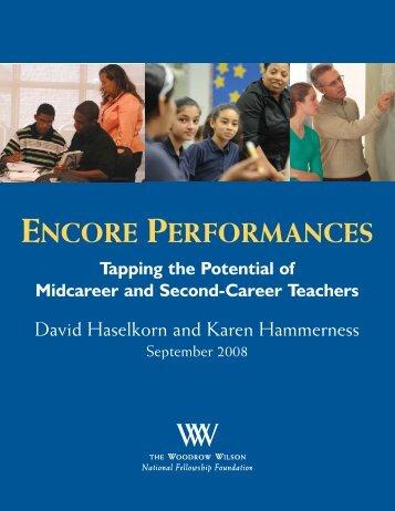 Encore Performances - Woodrow Wilson National Fellowship ...