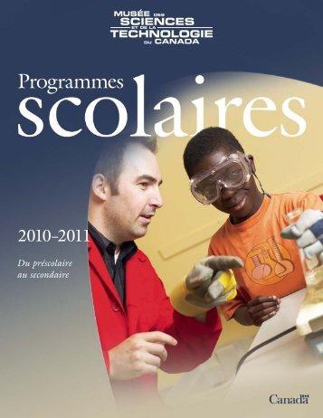 Programmes scolaires 2010-2011 - Musée des sciences et de la ...