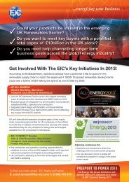 Get Involved With The EIC's Key Initiatives In 2013! - EIC Connect