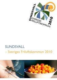 SUNDSVALL – Sveriges Friluftskommun 2010