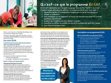 Les cours ELSA - WelcomeBC