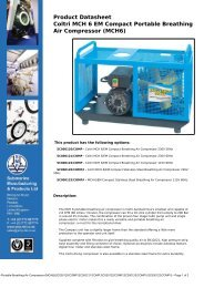 Product Datasheet: Coltri-MCH-6-EM-Compact-Portable-Breathing ...
