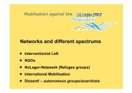 Networks and different spectrums - Gipfelsoli