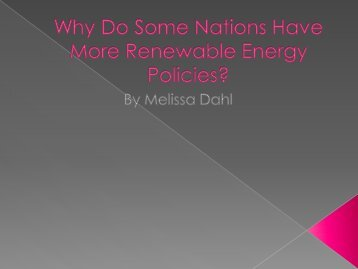 Melissa Dahl – Green Policies by OECD Countries