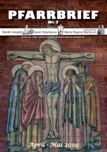 Gemeindebrief April / Mai 2009 - Katholische Pfarrei St. Joseph in ...