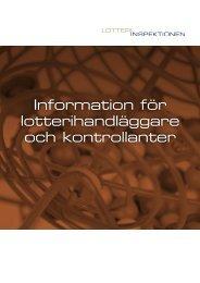Information för lotterihandläggare och kontrollanter