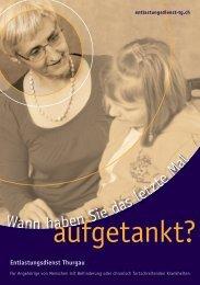 Flyer aufgetankt? - Entlastungsdienst Thurgau