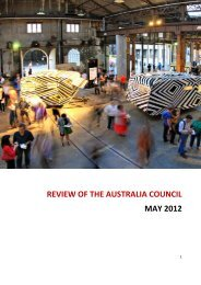 REVIEW OF THE AUSTRALIA COUNCIL MAY 2012 - Creative ...