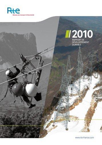 Rapport de Développement Durable 2010 - RTE