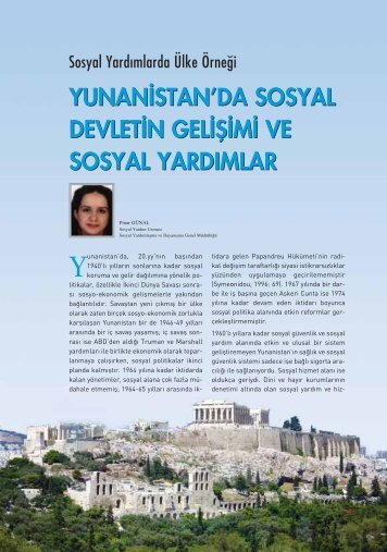 Yunanistan'da Sosyal Devletin Gelişimi ve Sosyal Yardımlar Pınar ...