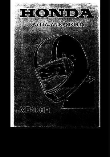 XR400 1996-1999 käyttäjän käsikirja (.pdf, 2.18 MB) - Honda