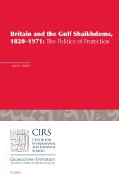 Britain and the Gulf Shaikhdoms, 1820–1971 - College of Social ...