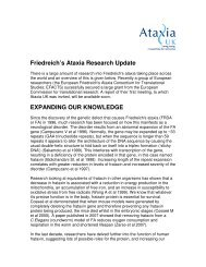 Friedreich's Ataxia Research Update EXPANDING OUR ... - Ataxia UK