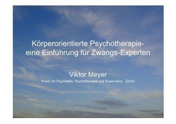 Körperorientierte Psychotherapie- eine Einführung für Zwangs ...