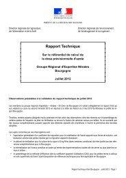 Rapport Gren Bourgogne - DRAAF de Bourgogne