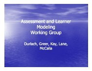 Assessment and Learner Assessment and Learner Modeling W ki G ...
