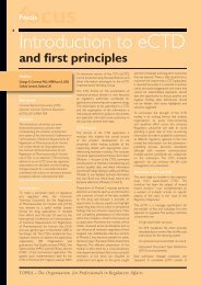 Introduction to eCTD and first principles - TOPRA