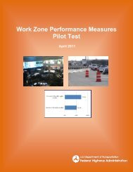 Work Zone Performance Measures Pilot Test - FHWA Operations ...