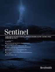 sentinel – SPRING 2009 - Reed Smith