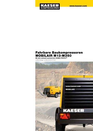 Fahrbare Baukompressoren MOBILAIR M13-M350