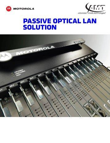 pAssiVE opticAl lAN solutioN - Advanced Media Technologies