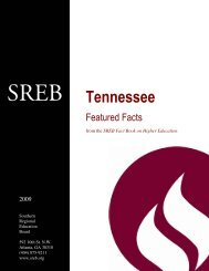 Southern Regional Education Board, Tennessee Higher Education ...