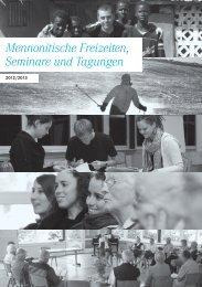 Mennonitische Tagungen 2012-2013