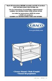 Read all instructions BEFORE assembly and USE of product ... - Graco