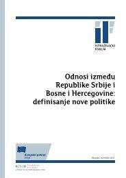 Odnosi između Republike Srbije i Bosne i Hercegovine: definisanje ...