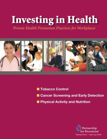 Investing in Health - Partnership for Prevention