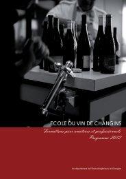 Téléchargez notre brochure 2012 - Ecole d'ingénieurs de Changins