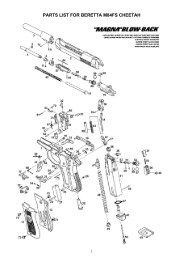PARTS LIST FOR BERETTA M84FS CHEETAH