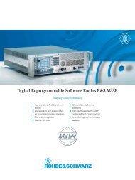 Digital Reprogrammable Software Radios R&S M3SR